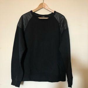 H&M leather shoulder sweatshirt